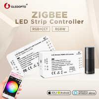 G LED OPTO DC12-24V RGB + CCT/rgbw Zigbee contrôleur de bande de LED intelligente commande vocale travail avec Echo plus smartThings ZIGBEE 3.0 HUB