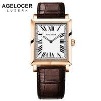 Роскошные часы Для женщин бренд Agelocer часы известного золото Дамы кварцевые часы женские ультратонкие часы Наручные часы с подарочной короб