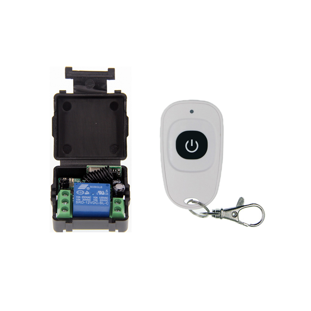 Simple Mini Size DC 12V 1CH 1CH 10A RF Wireless Remote Control Switch System, (Receiver+ Transmitter) ,315/433.92 MHZ access door control system 12v 1ch wireless remote control switch system transmitter receiver mini size 315 433mhz