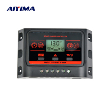 AIYIMA Solar Charge Controller 12V 24V 10A 20A Multiple Parameters Switching Solar Panel Charger With Dual USB Ports LCD Display