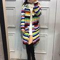 Senhoras de luxo Trench Coat Outono Inverno Rua Manga Longa Top Grade Multicolor Patchwork 2016 Estilo Estrela Da Moda de Nova Trench Com Chapéu