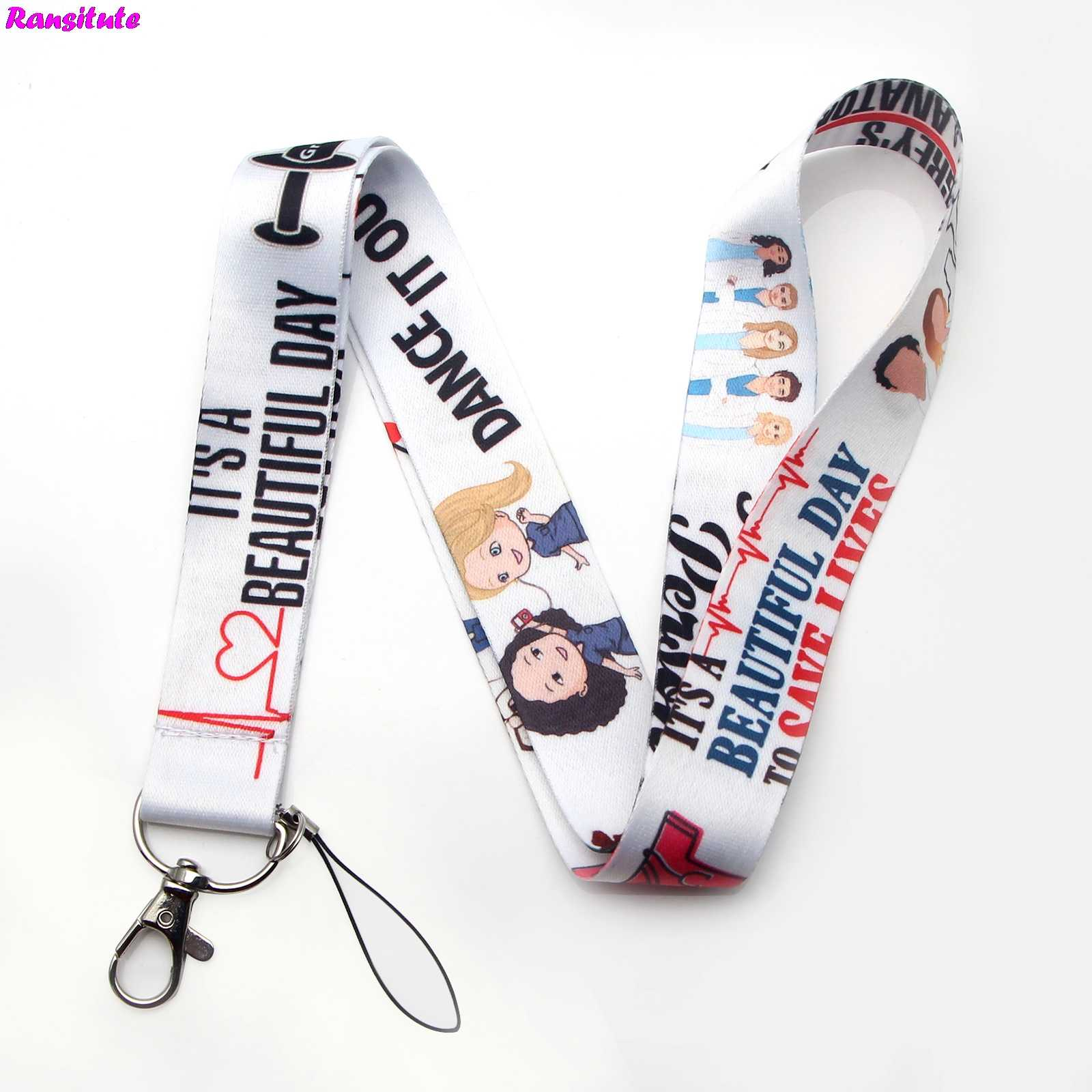 Grey's Anatomy Key ID Card Gym Mobile Phone Strap USB Badge Holder DIY Mobile Phone Lanyard