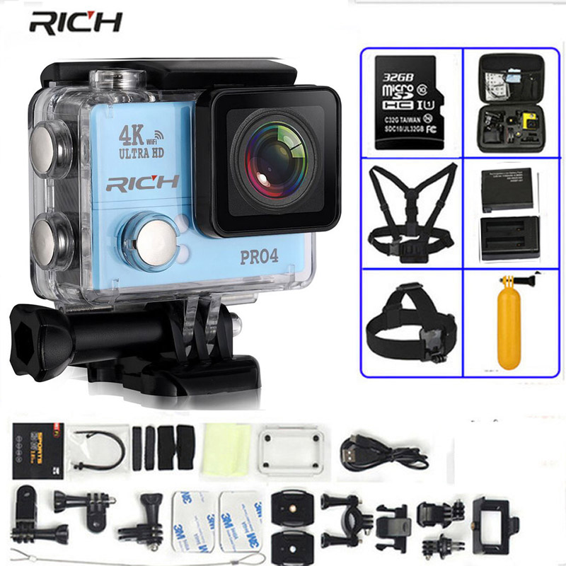 action камера acme vr03 ultra hd 4k HOT Action Camera Ultra HD 4K 30FPS  14MP WIFI Wideangle Diving 45M Waterproof Extreme Sport Camera