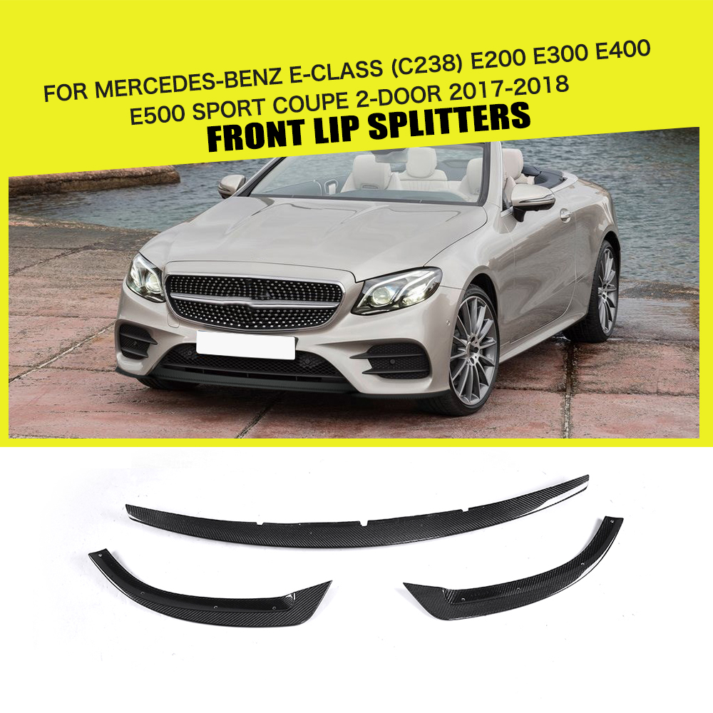 Carbon Fiber / FRP Black Car Front Bumper Lip Spoiler For