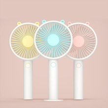 2019 new usb mini outdoor handheld portable charging fan vibrating bear gift big wind