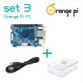 Orange Pi PC set 3 :  Orange Pi PC +   ABS Transparent  Case +   4.0MM - 1.7MM USB to DC power cable Beyond Raspberry