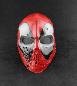 Caricature Movie Deadpool Mask High Quality Hand Printed Resin Superhero Cosplay Party Masquerade Masks Collection Home Decor