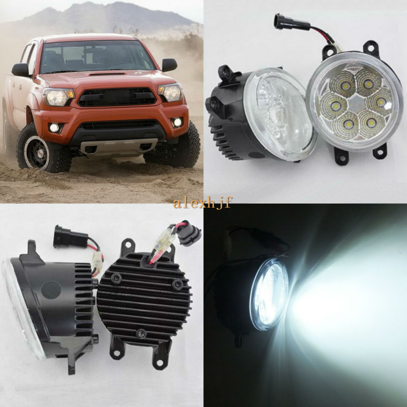 July King 18W 6500K 6LEDs LED Daytime Running Lights LED Fog Lamp case for Toyota Tacoma 2012~2016, over 1260LM/pc