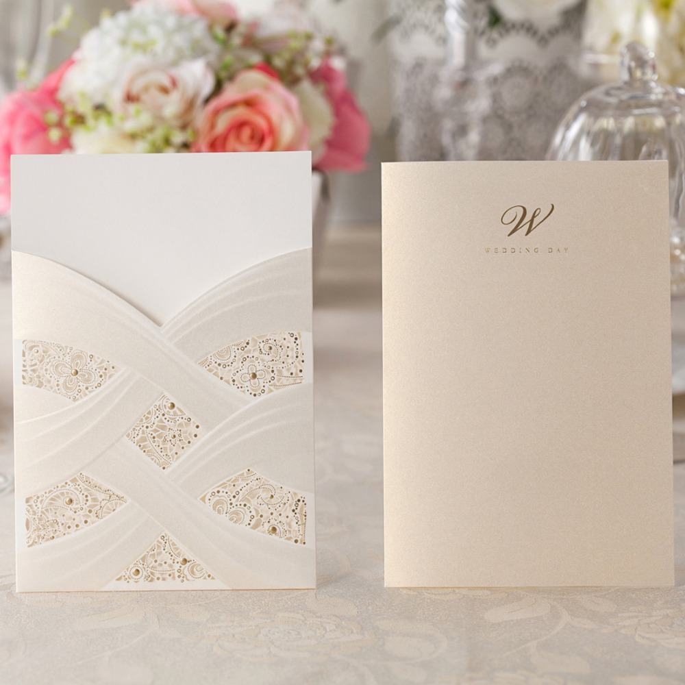 aliexpress : buy laser cut wedding invitations cards white, Wedding invitations