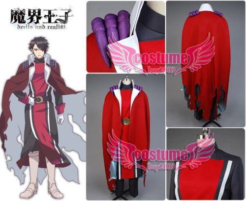 Makai oji Devils and Realist Dantalion Uniform Cape Robe font b Jacket b font Pants Anime