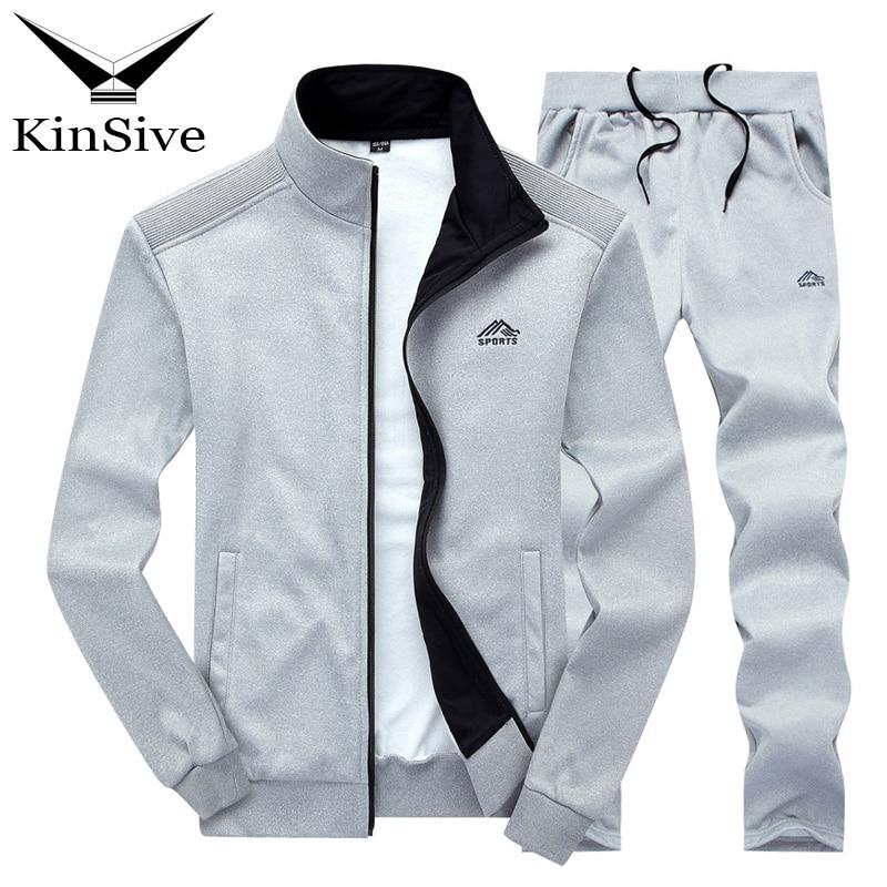 Tracksuit Men 2018 Spring Autumn Sweatshirt Zipper Hoodies Jacket And Pants Two Piece Sweat Set Casual Man Sweatpants Track Suit