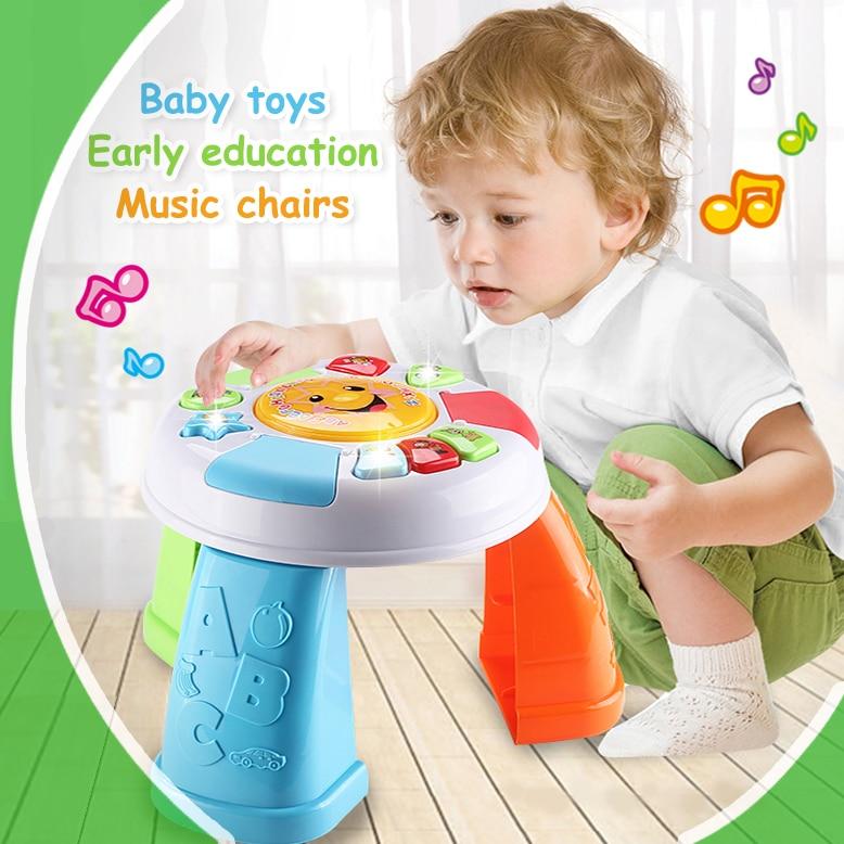 Baby Speeltafel Met Stoel.Us 25 48 53 Off Baby Speelgoed Muziek Stoelen Vroege Onderwijs Speelgoed Discovering Activiteit Tafel Voor Vroege Ontwikkeling Puzzel Ontwikkelen In