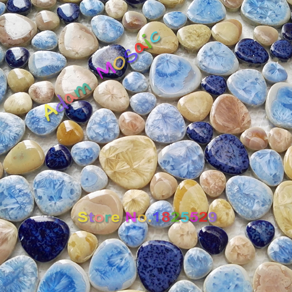 Blue Pebble Wall Font B
