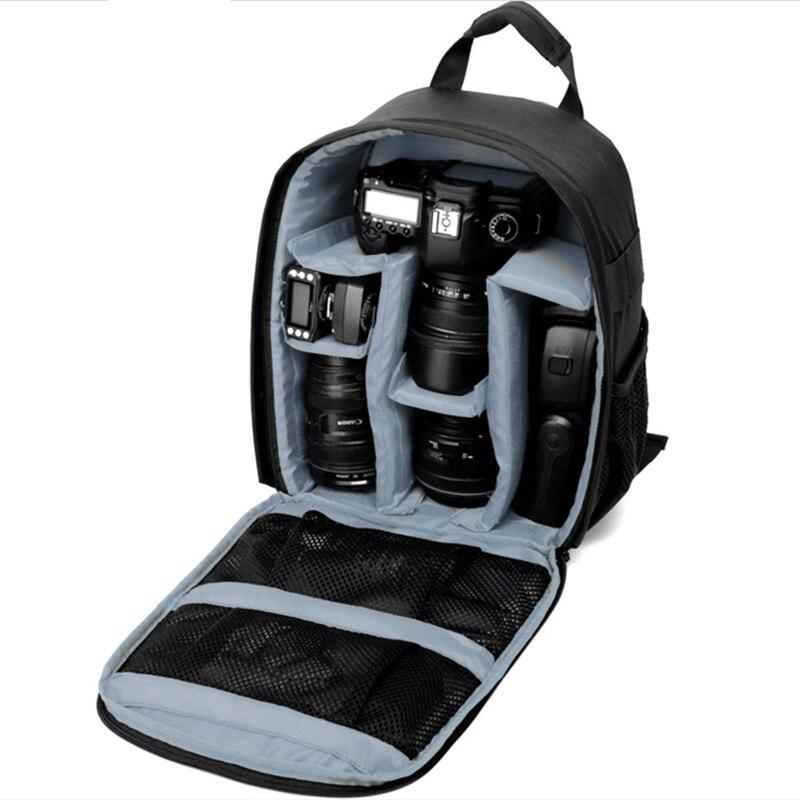 Sago Multi-función mochila DSLR cámara de vídeo bolsa w/cubierta para la lluvia SLR trípode PE acolchada para el fotógrafo canon Nikon