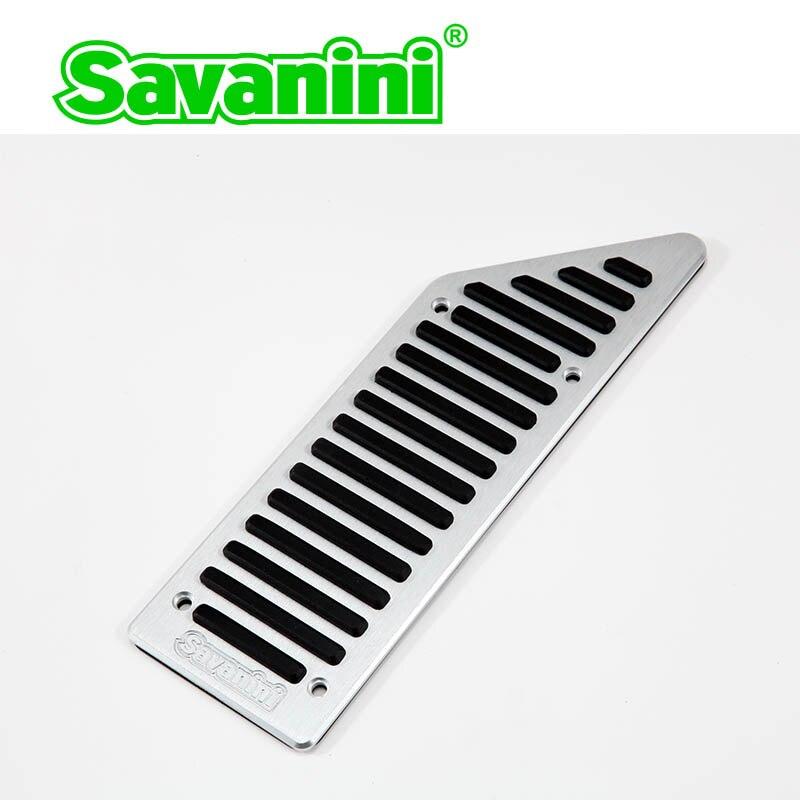 Savanini подножка тормоза газа педаль акселератора Колодка Без бурения для peugeot 508/Citroen C5 AT/MT. Нескользящий алюминиевый сплав - Название цвета: footrest pedal