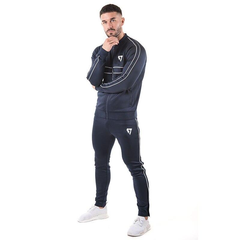 GYMOHYEAH brand brand sporting suit men Suit Men Hoodies Sets Mens Gyms Sportswear Jogger Suit Male Tracksuit sets