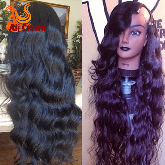 10A Human Hair U Part Wigs For Black Women Top Quality Long Wavy U Part Wig Brazilian Hair Custom Made Perruques Human Hair Wig