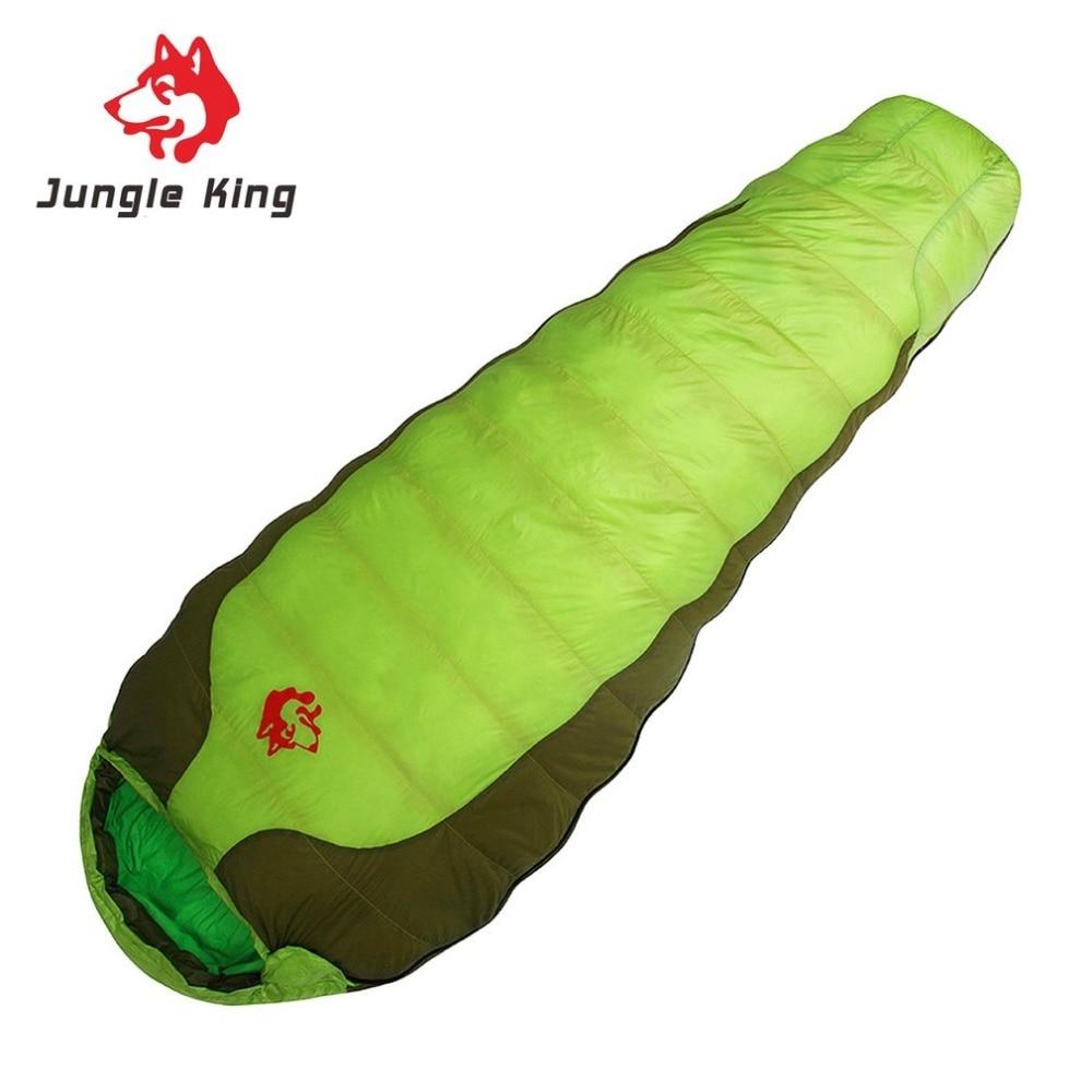 Jungle King 2018 New CY-770 Portable Duck Down Nylon Sleeping Bag Comfortable Outdoor Camping Travel Envelope Sleeping Bag
