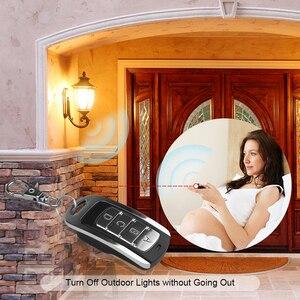 Image 2 - Kebidu 433MHZ otomatik çift kopya uzaktan teksir 4 düğmeler garaj kapısı kapı uzaktan kumanda öğrenme kopyalama anahtarlık ile