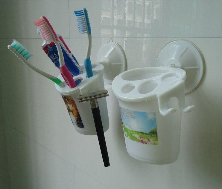 a85ee9948e 1 pc Banheiro Navalha Ventosa Creme Dental Escova de Dentes Titular Rack de  Armazenamento Titular Escova de Dentes Parede Organizador Ganchos Do  Banheiro ...