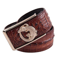 Exclusive Sales Of High End Brand Men S Belt Leather Crocodile Pattern Business Leather Belt 100