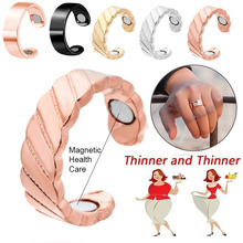 Magnetic Therapy Lose Weight Rings For Women Men Fashion Jewelry Ring Health Keep Slim Stylish Metal Touch Acupoint Care