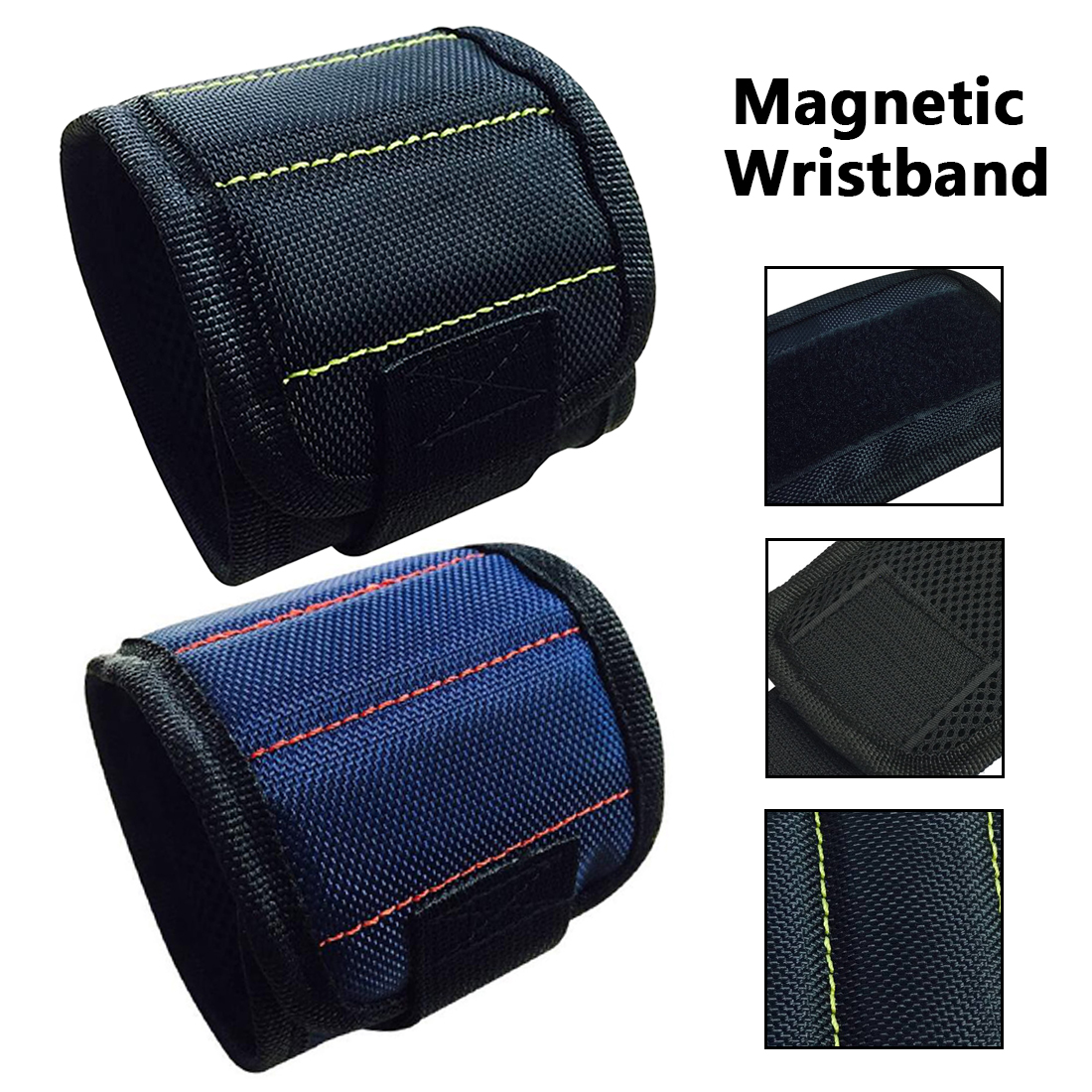 Car Auto Repair Kit 370mm Nylon Wrist Strong Magnetic Nail Screw Drill Bit Holder Wristband Holding Hand Tool Bag Bracelet Belt