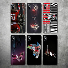 Yinuoda Atlanta Falcons Phone Case NFL Mohamed Sanu For iPhone DIY Picture Soft TPU Cover X XR XS MAX 7 8 7plus 6 6S 5S SE
