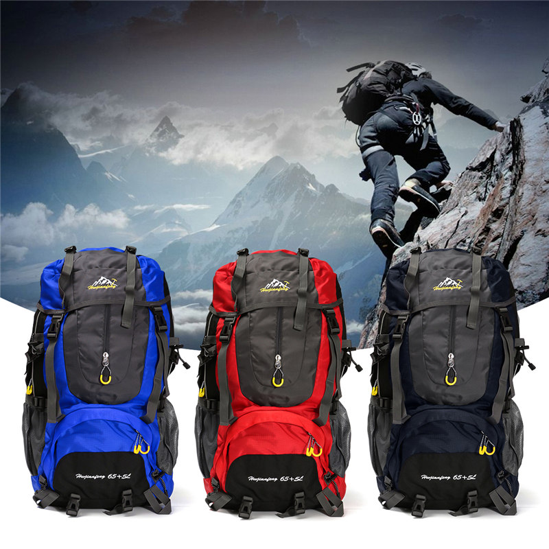 70L Outdoor Backpack Travel Camping Climbing Bag Waterproof Mountaineering Hiking Backpacks Molle Sport Bag Rucksack strong oxygen gazelle 26l backpack outdoor light breathable mountaineering bag double shoulder sport bag