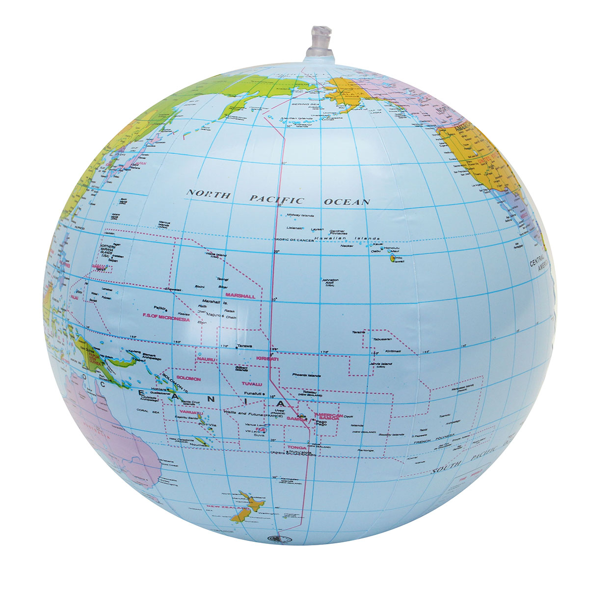 30cm Inflatable Globe World Earth Ocean Map Ball Geography Learning on