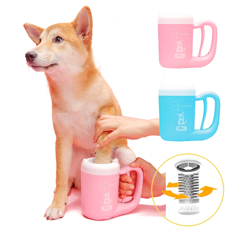 Pet Dog Paw Washer Cup Cat Dog Paw Cleaner Cup Pet Feet Cleaning Soft Paw Foot Brush Dirty Feet Washing Pet Cleaning Supplies