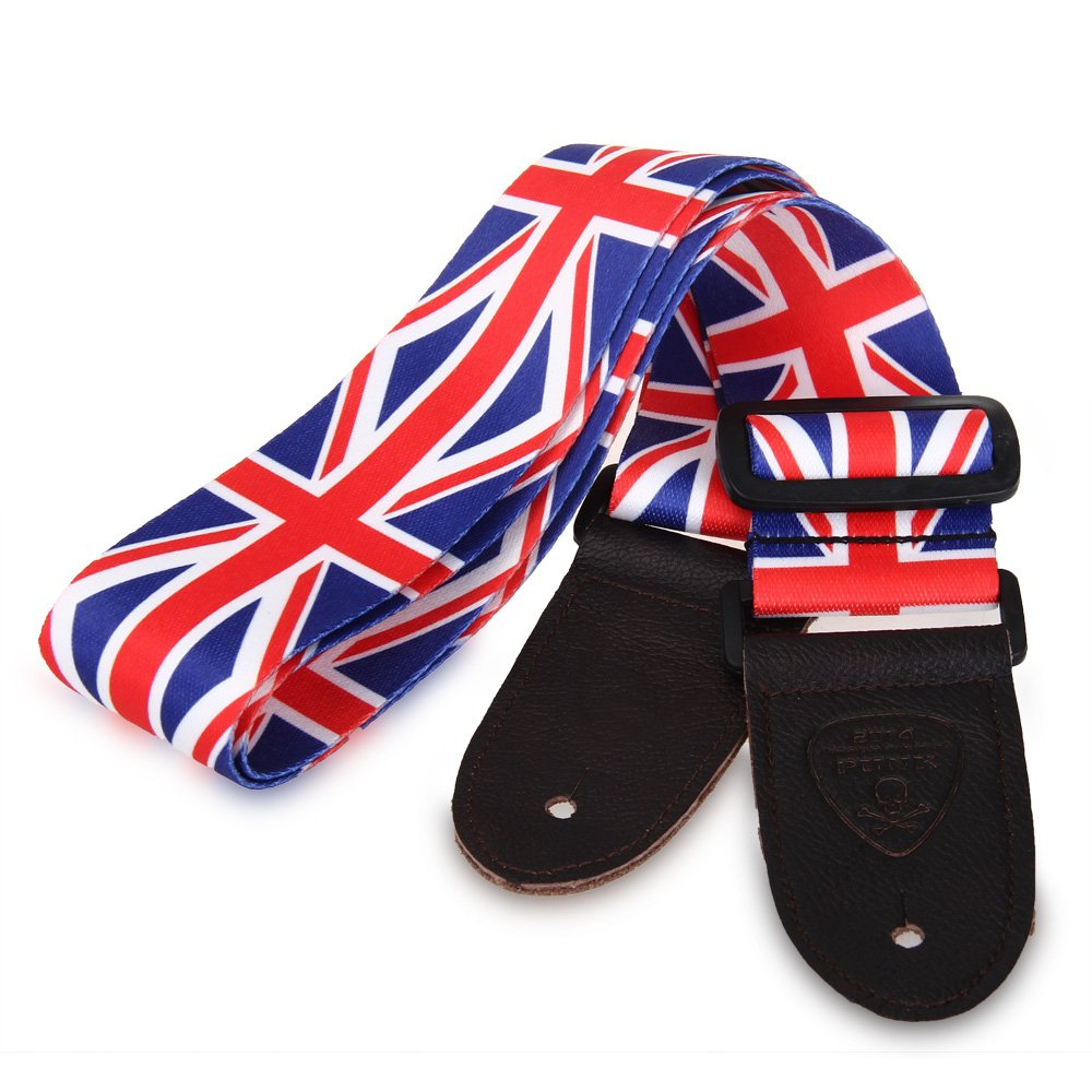 HOT 8X PUNK Strap belt UK flag strap for electric acoustic bass guitar polyester and nylon guitar strap for acoustic electric guitar and bass multi color guitar belt s008