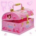 New Brand Love Girl Musical Jewellery Boxes Fairy Figurine Dance Dall Make Up Box with Mirror and Ballet Children Birthday Gifts