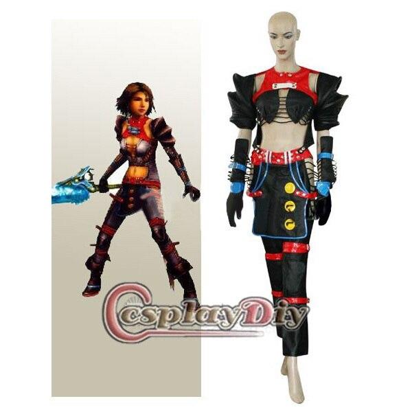 Cosplaydiy Free Shipping Anime Cosplay Costume Final Fantasy X 2