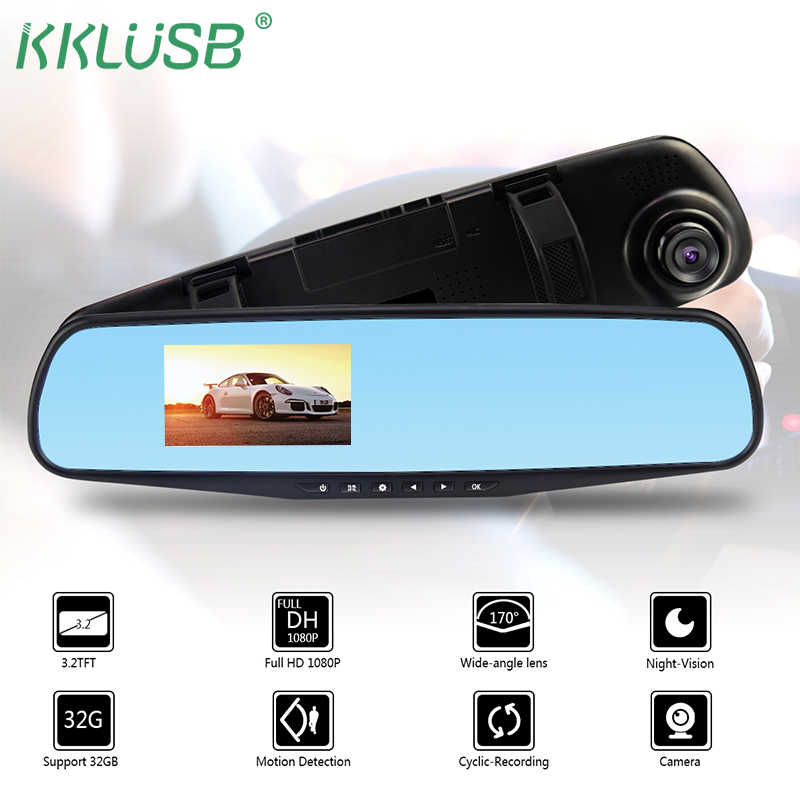 3.2 Inch Car Dvr Camera Full HD 1080P Auto Rearview Mirror Digital Video Recorder Dual Lens Registratory Camcorder DVR Dash Cam