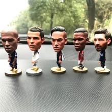 European Football Stars Figure Car Ornament Auto Interior Decorations for CR7 Messi Neymar Salah Modric Beckham Zidane Bale Fans zidane