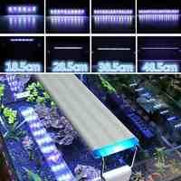 19-60 см светодиодный светильник для аквариума с кронштейнами 5730SMD Blub синий + белый Регулируемый корпус из алюминиевого сплава AC220V