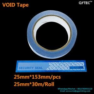 Image 2 - 1 rollo de cinta adhesiva de 25mm x 30m, cinta de embalaje abierta vacía, azul, rojo, etiqueta a prueba de manipulaciones, garantía de seguridad, sello del vacío, paquete de pegatinas, cintas