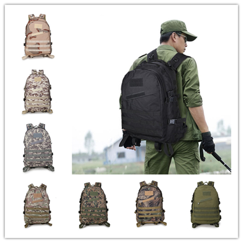 Men Oxford Camping Rucksack Tactical Military Backpack Large Waterproof Backpacks Camouflage Hiking Outdoor Shoulder Bag цены