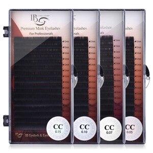 Image 1 - Eu beleza cílios 8mm 16mm extensão de cílios individuais ib premium real vison cílios cc volume curl cílios ibeauty cílios cola