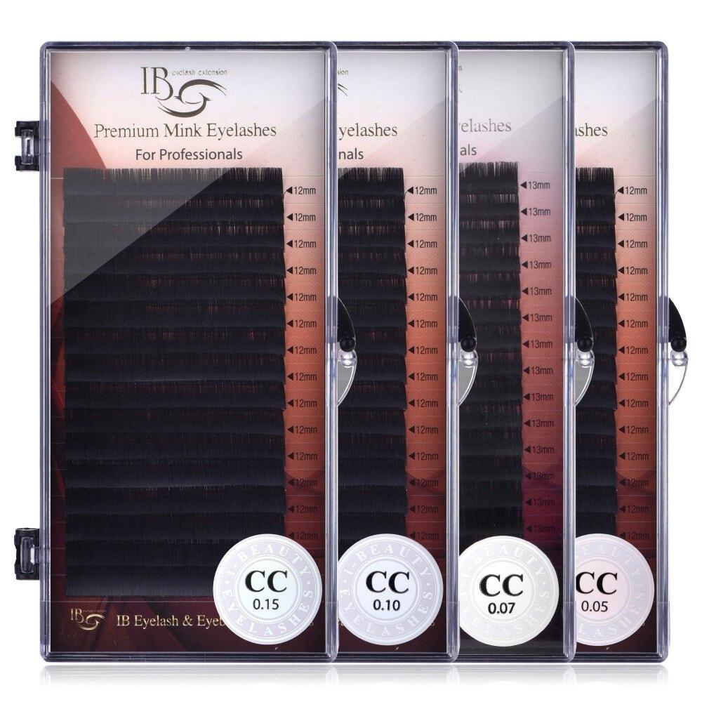ICH Schönheit Wimpern 8mm-16mm Einzelne Wimpern Verlängerung ib Premium Echt Nerz Wimpern CC curl Volumen Wimpern ibeauty Wimpern Kleber