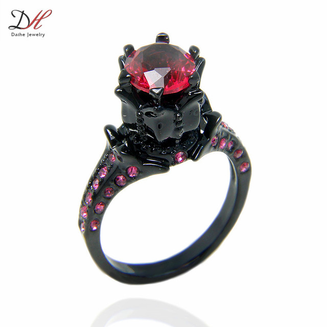 wholesale turkish wedding rings finger rings women big stone black gold filled engagement wedding ring - Turkish Wedding Ring