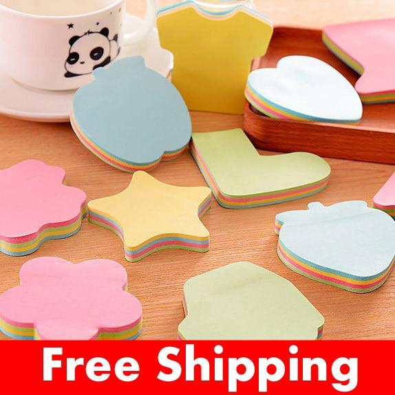 Skrivbordsunderlägg för söt regnbåge färgglada klistermärkear för klistermärkear för klistermärkear för memo vadderar papperklistermärkear postar den notepadmeddelande eftermarkören