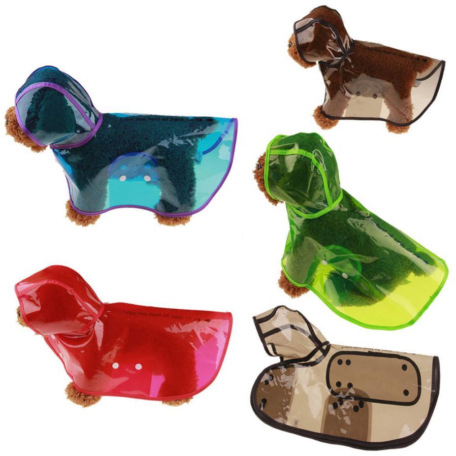 1 Pz Cucciolo Di Cane Da Compagnia Impermeabili Impermeabile Pet Con Cappuccio Impermeabile Giacca Abbigliamento