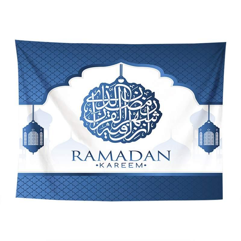 2019 Prachtige Arabische Islamitische Eid Al-fitr Stijl Tapijt Gang Decoratieve Dekzeil Gedrukt Achtergrond Doek Muur Decor Nieuwe Gemakkelijk Te Smeren