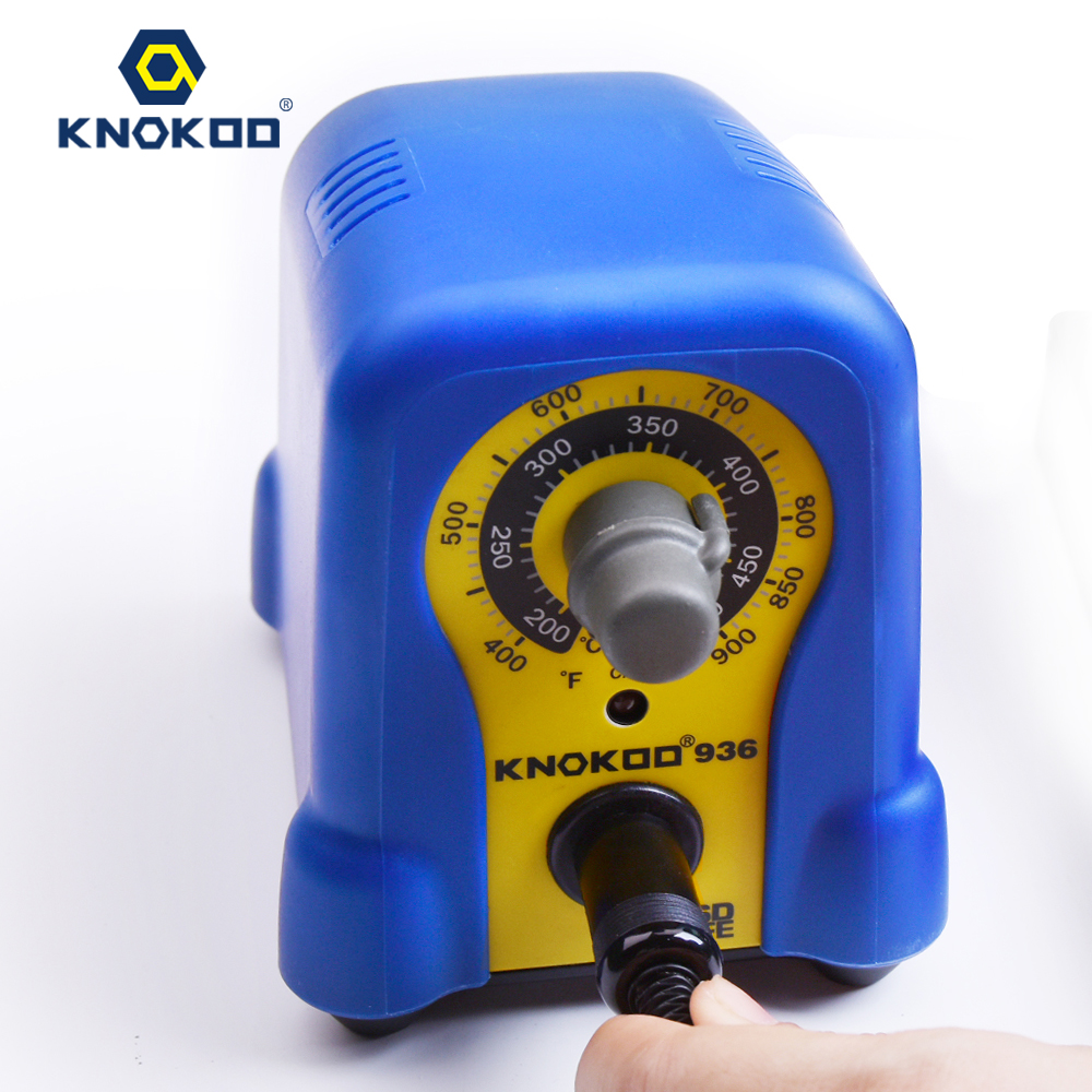 60W 110V/220V KNOKOO Soldering Station 936 with 5PCS 900M Tips and 1PCS A1321 Ceramic Heater