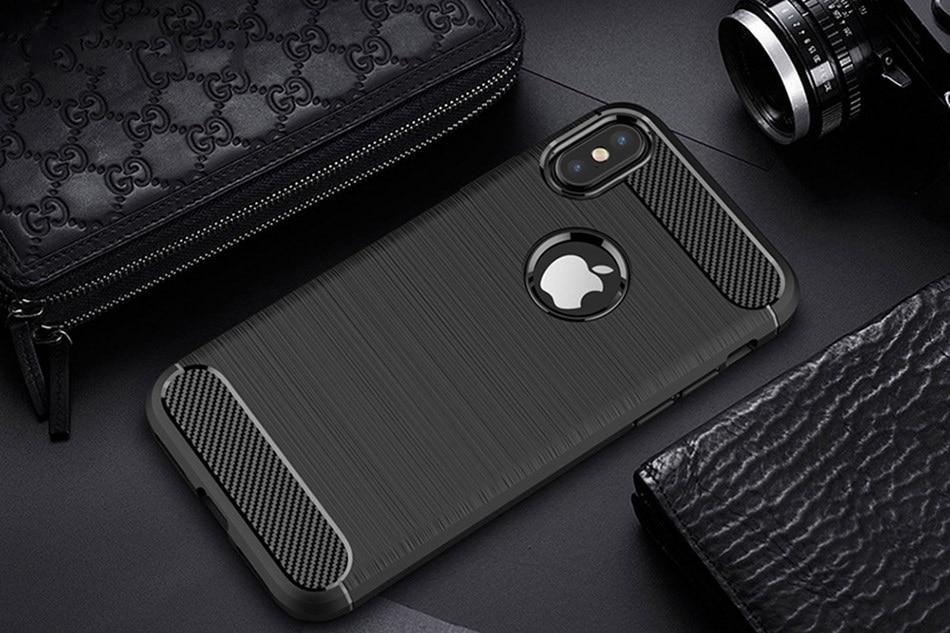 Carbon Fiber TPU Phone Cases Anti- Shock