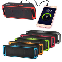 Newest SC208 Wireless Bluetooth Speaker Stereo Subwoofer USB Speakers TF Card FM Radio Dual Bass Bluetooth Sound Box 5 colors