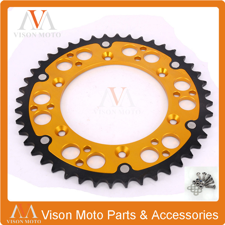 48T CNC Rear Chain Sprocket For RM125 DRZ250 DR250 RMZ250 RM250 RMZ450 Motocross Supermoto Enduro Off Road Racing