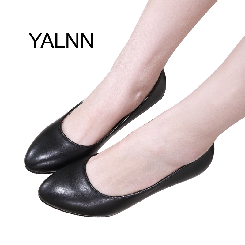 YALNN Women Shoes 3cm Black Mature Women High Heels Zapatos Pump New Shoes Office Lady Dress